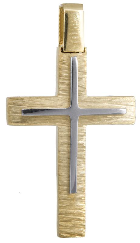 Σταυροί Βάπτισης - Αρραβώνα Αντρικός κλασικός σταυρός Κ18 023583 023583 Ανδρικό Χρυσός 18 Καράτια