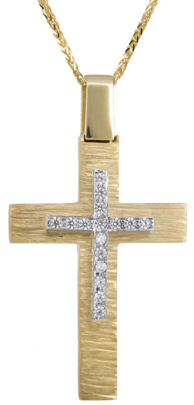 Βαπτιστικοί Σταυροί με Αλυσίδα Βαπτιστικός σταυρός Κ14 C023286 023286C Γυναικείο Χρυσός 14 Καράτια