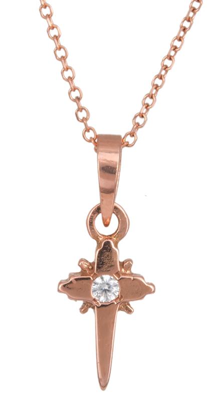 Ροζ gold σταυρουδάκι Κ14 C023306 023306C Χρυσός 14 Καράτια