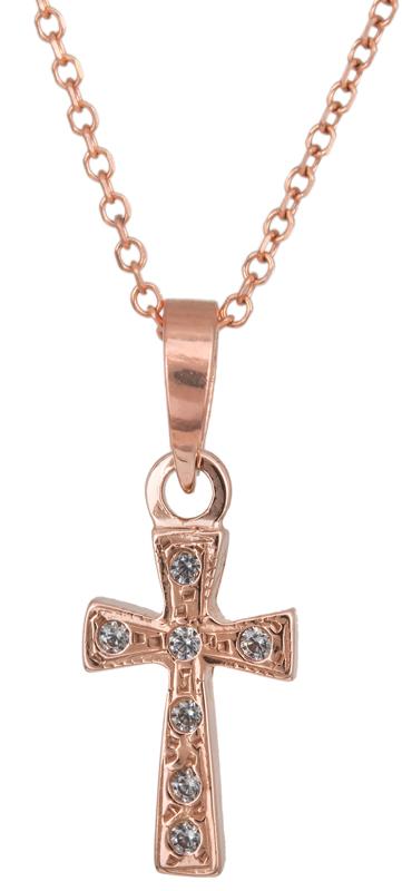 Ροζ gold γυναικείο σταυρουδάκι Κ14 C023307 023307C Χρυσός 14 Καράτια