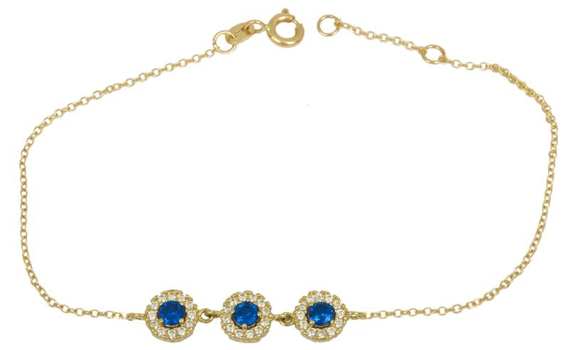 Χρυσό βραχιόλι με ροζετούλες Κ14 023315 023315 Χρυσός 14 Καράτια