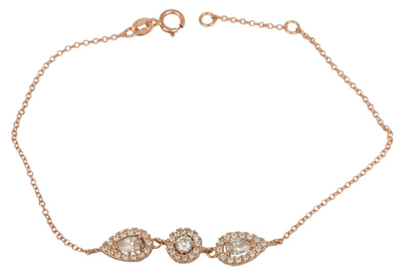 Ροζ gold βραχιόλι με ροζετούλες Κ14 023328 023328 Χρυσός 14 Καράτια