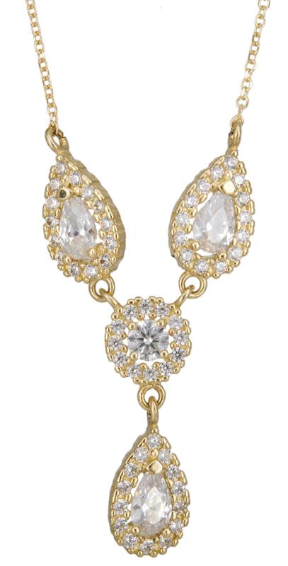 Γυναικείο κολιέ με ροζέτες Κ14 023334 023334 Χρυσός 14 Καράτια