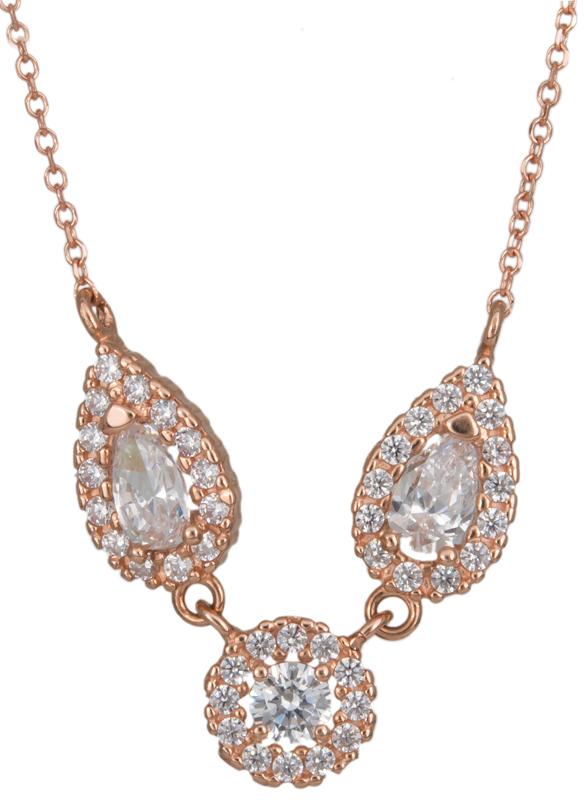 Γυναικείο κολιέ με ροζέτες Κ14 023344 023344 Χρυσός 14 Καράτια