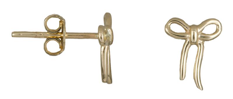 Σκουλαρίκια χρυσά φιογκάκια Κ14 023365 023365 Χρυσός 14 Καράτια