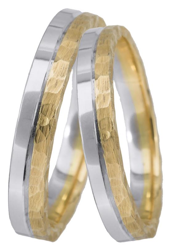 Βέρες γάμου δίχρωμες Κ14 023377 023377 Χρυσός 14 Καράτια
