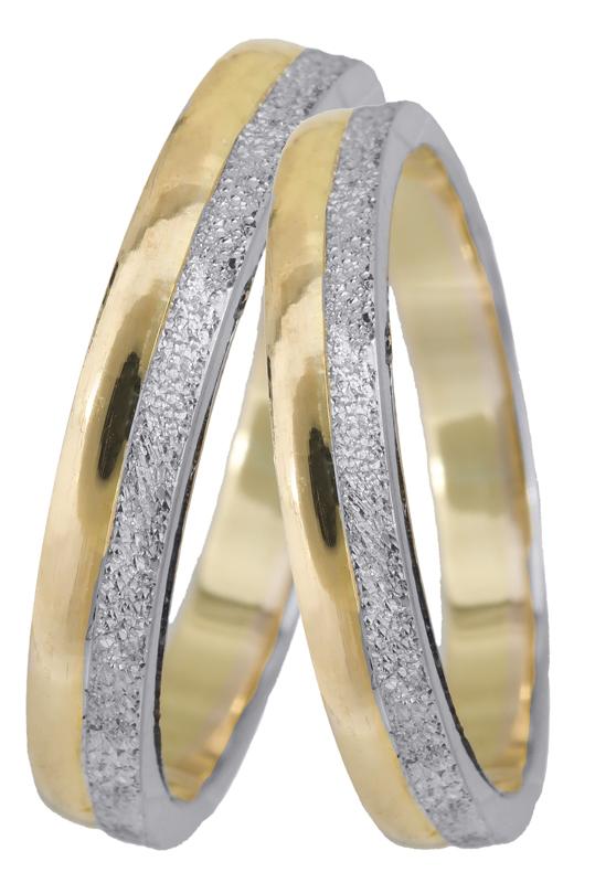 Χειροποίητες βέρες γάμου δίχρωμες Κ14 023378 023378 Χρυσός 14 Καράτια