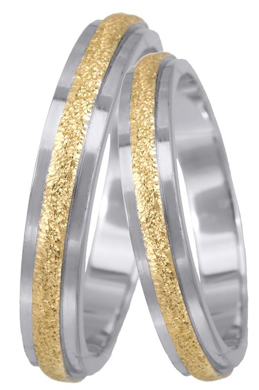 Βέρες γάμου Κ14 σε διχρωμία 023382 023382 Χρυσός 14 Καράτια