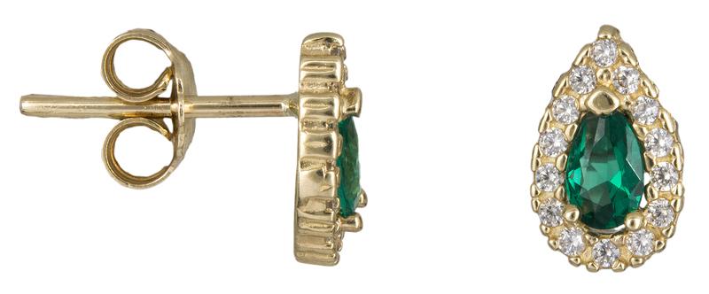Χρυσά σκουλαρίκια ροζέτες Κ14 023387 023387 Χρυσός 14 Καράτια