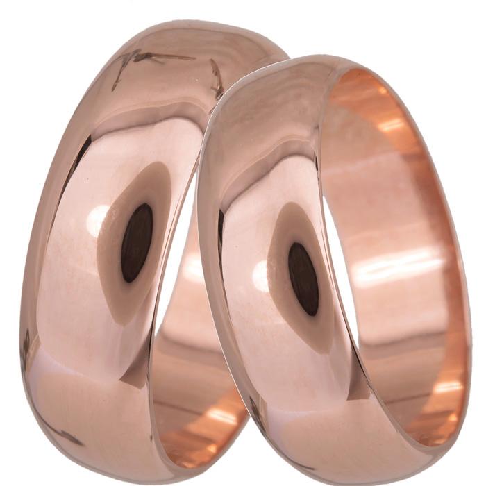 Ροζ χρυσές βέρες κλασικές Κ14 023405 023405 Χρυσός 14 Καράτια