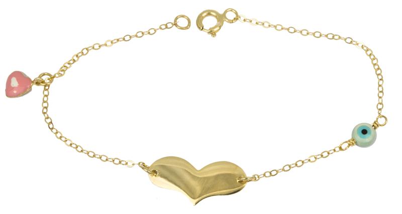 Χρυσή ταυτότητα καρδούλα Κ9 023412 023412 Χρυσός 9 Καράτια