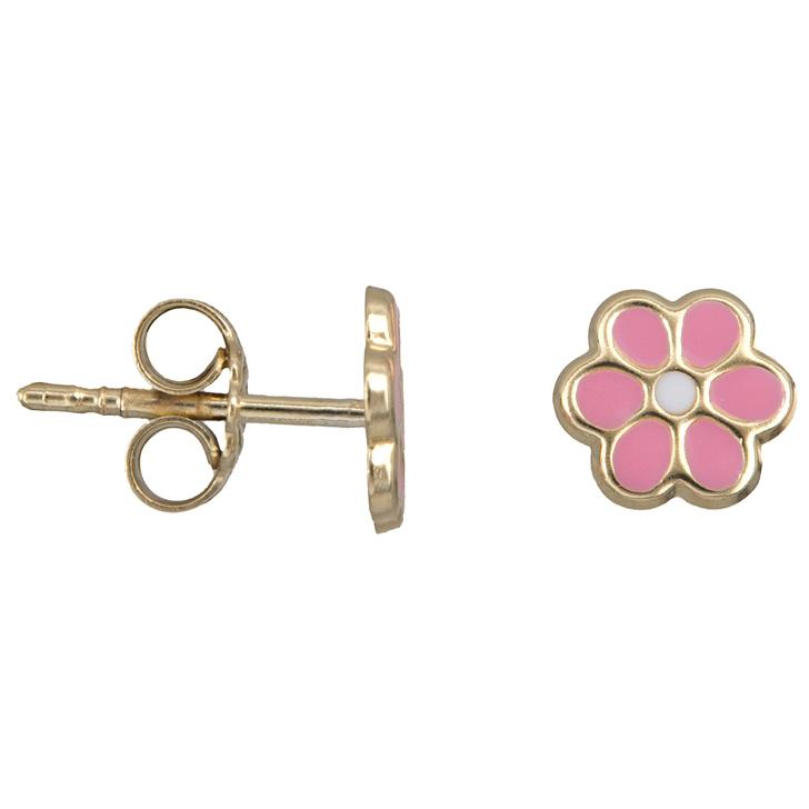 Χρυσά παιδικά σκουλαρίκια λουλούδι Κ14 023453 023453 Χρυσός 14 Καράτια