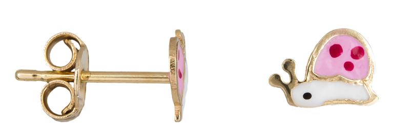 Παιδικά σκουλαρίκια σαλιγκαράκια Κ14 023454 023454 Χρυσός 14 Καράτια