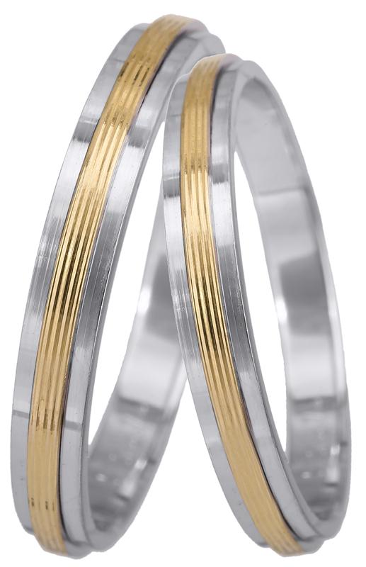 Βέρες γάμου δίχρωμες Κ14 023462 023462 Χρυσός 14 Καράτια