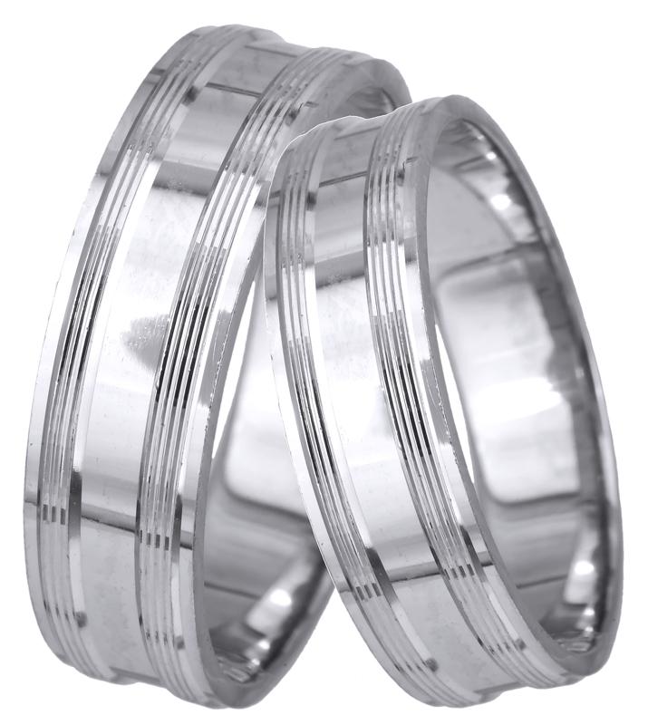 Βέρες γάμου - αρραβώνα λευκόχρυσες Κ14 023463 023463 Χρυσός 14 Καράτια