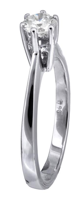 Λευκόχρυσο δαχτυλίδι Κ18 023741 023741 Χρυσός 18 Καράτια