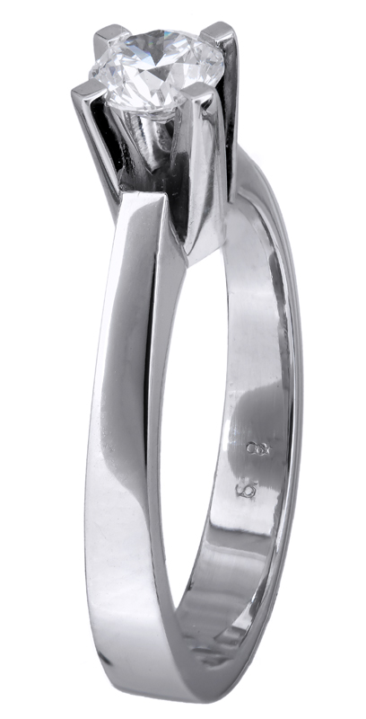 Κλασικό μονόπετρο δαχτυλίδι Κ18 023762 023762 Χρυσός 18 Καράτια