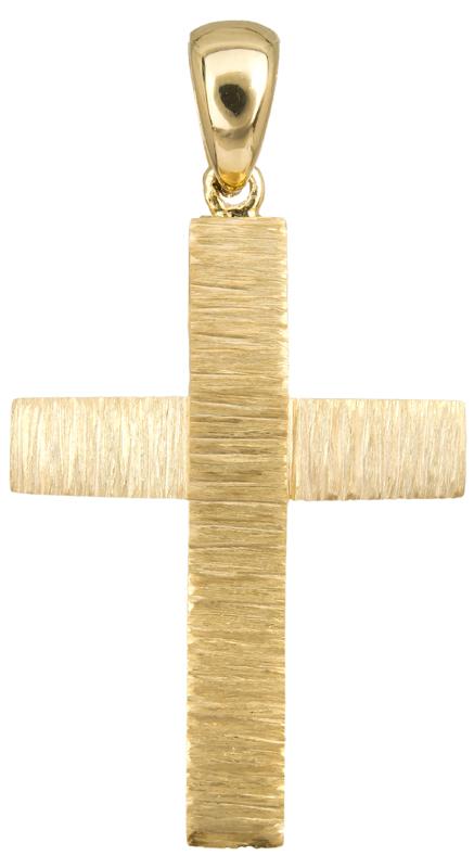 Σταυροί Βάπτισης - Αρραβώνα Χρυσός σταυρός για αγόρι Κ14 023493 023493 Ανδρικό Χρυσός 14 Καράτια