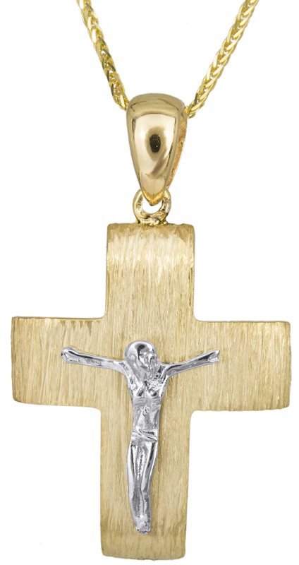Βαπτιστικοί Σταυροί με Αλυσίδα Σταυρός βάπτισης με αλυσίδα Κ14 C023494 023494C Ανδρικό Χρυσός 14 Καράτια
