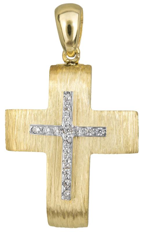 Σταυροί Βάπτισης - Αρραβώνα Κλασικός γυναικείος σταυρός Κ14 023495 023495 Γυναικείο Χρυσός 14 Καράτια