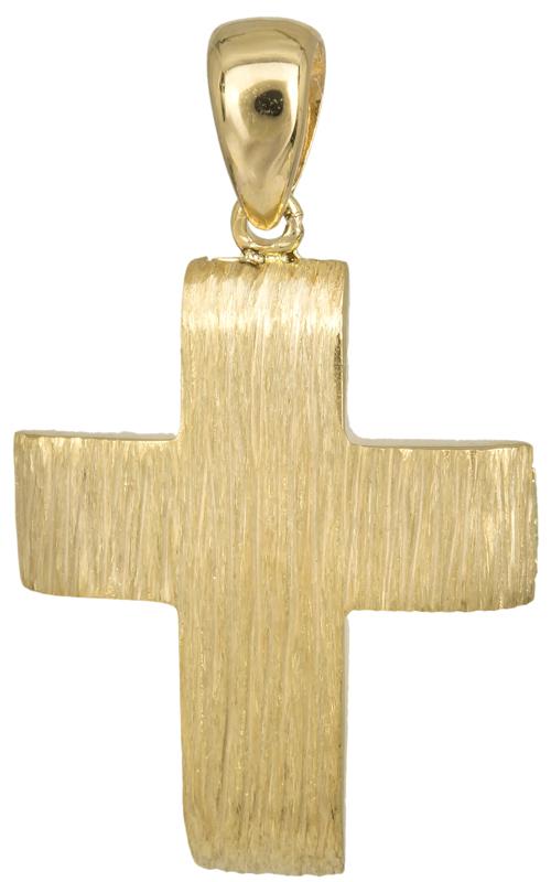 Σταυροί Βάπτισης - Αρραβώνα Χρυσός σταυρός για αγόρι 14Κ 023496 023496 Ανδρικό Χρυσός 14 Καράτια