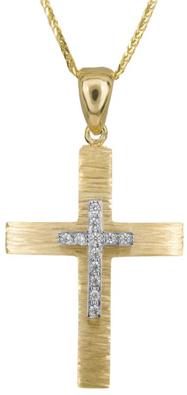 Βαπτιστικοί Σταυροί με Αλυσίδα Σταυρός βάπτισης με αλυσίδα Κ14 C023500 023500C Γυναικείο Χρυσός 14 Καράτια