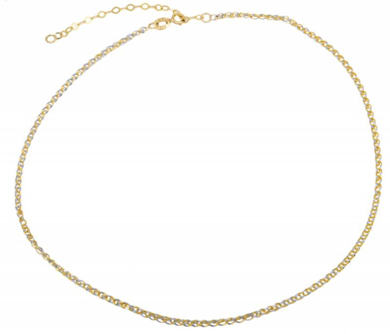 Δίχρωμο κολιέ Choker Κ14 023511 023511 Χρυσός 14 Καράτια