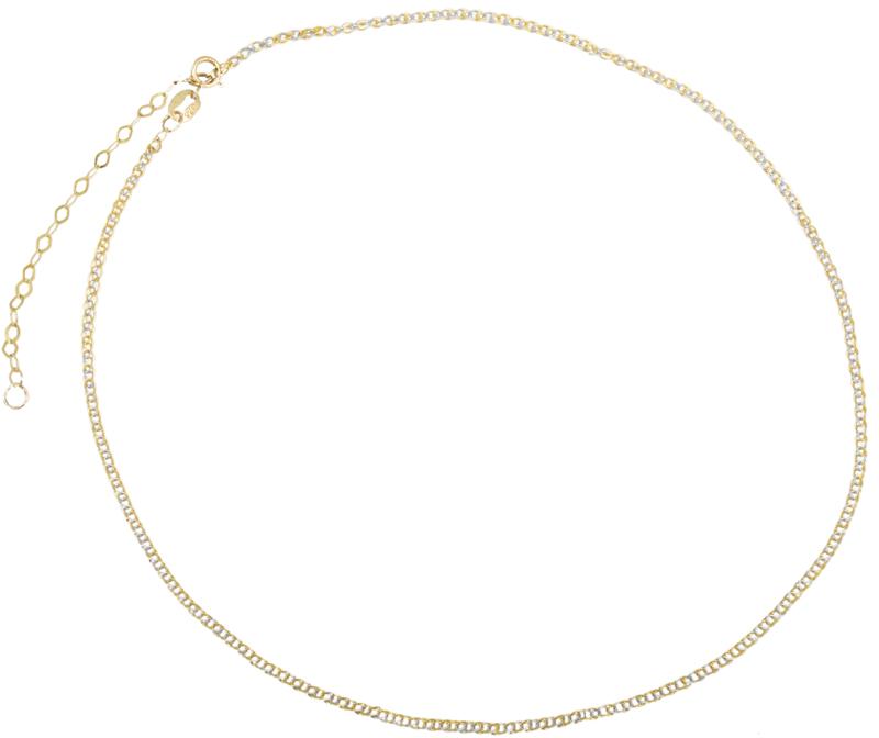 Δίχρωμο γυναικείο Choker Κ14 023512 023512 Χρυσός 14 Καράτια