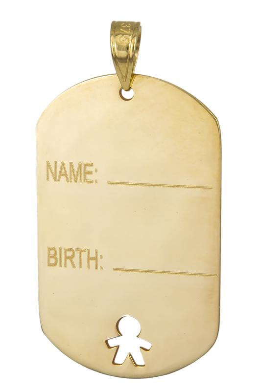 Χρυσό κρεμαστό ταυτότητα Κ9 023522 023522 Χρυσός 9 Καράτια