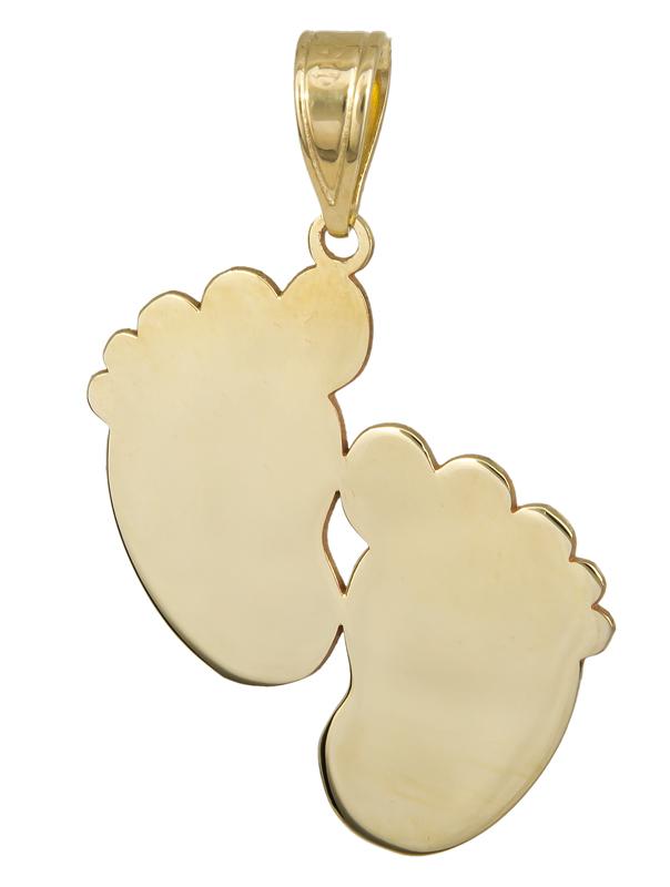 Χρυσό κρεμαστό πατούσες Κ14 023574 023574 Χρυσός 14 Καράτια