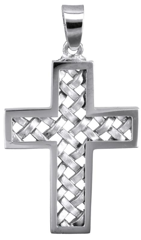 Σταυροί Βάπτισης - Αρραβώνα Λευκόχρυσος σταυρός 14Κ 023579 023579 Ανδρικό Χρυσός 14 Καράτια
