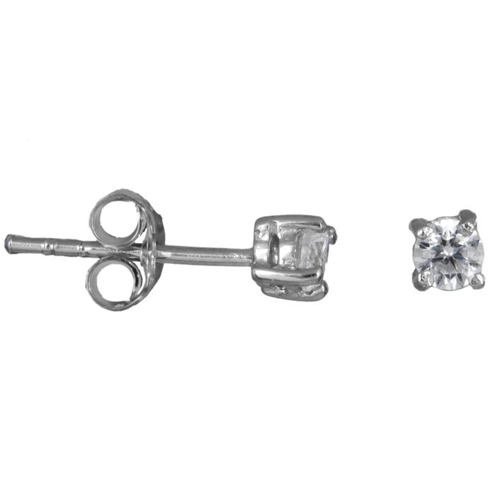 Ασημένια γυναικεία σκουλαρίκια με ζιργκόν 925 023610 023610 Ασήμι