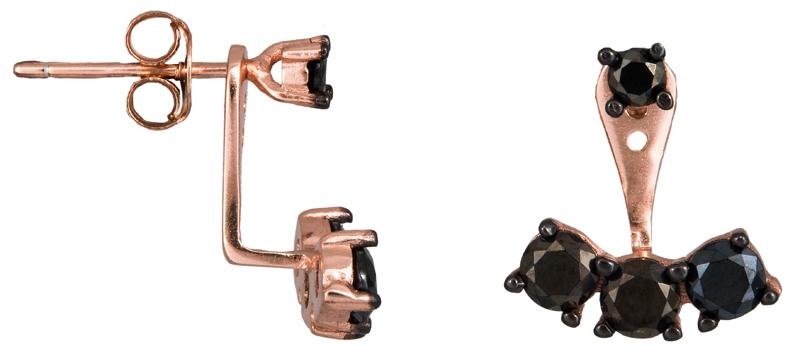 Ροζ σκουλαρίκια με ζιργκόν 925 023662 023662 Ασήμι ασημένια κοσμήματα σκουλαρίκια