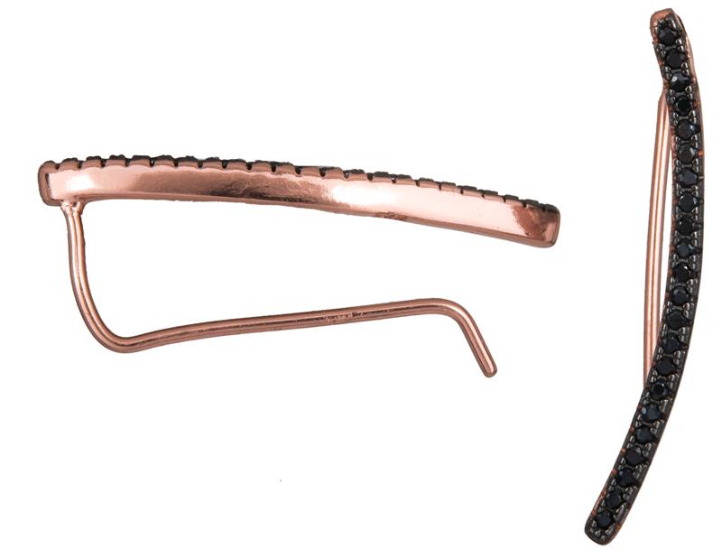 Ασημένια ροζ σκουλαρίκια μπάρα 925 023663 023663 Ασήμι