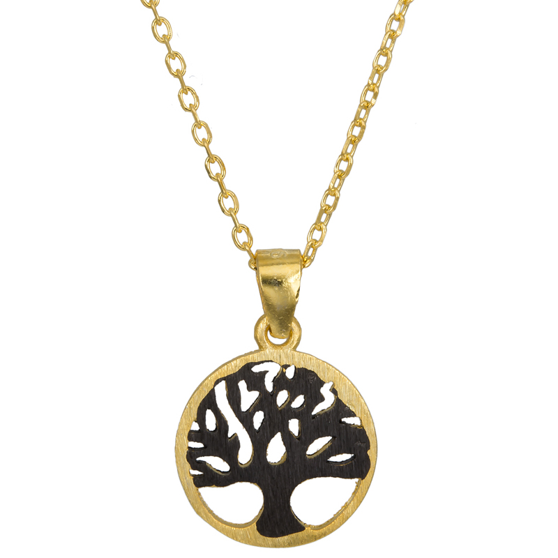 Επίχρυσο κολιέ 925 το Δέντρο της Ζωής 023695 023695 Ασήμι