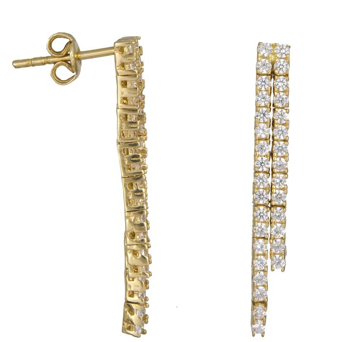 Σκουλαρίκια σειρέ χρυσά Κ14 023792 023792 Χρυσός 14 Καράτια