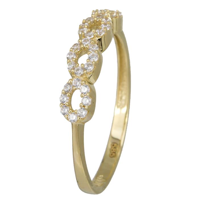 Χρυσό δαχτυλίδι ριβιέρα οβάλ 14Κ 023800 023800 Χρυσός 14 Καράτια