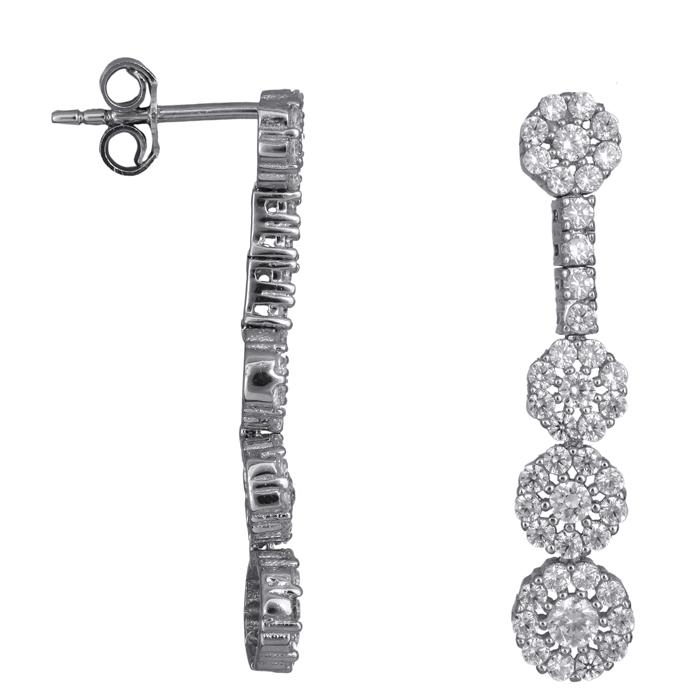 Λευκόχρυσα σκουλαρίκια ροζέτες 14 Κ 023810 023810 Χρυσός 14 Καράτια χρυσά κοσμήματα
