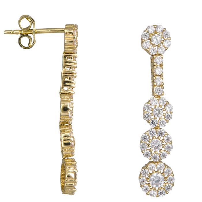 Χρυσά σκουλαρίκια ροζέτες 14 Κ 023811 023811 Χρυσός 14 Καράτια