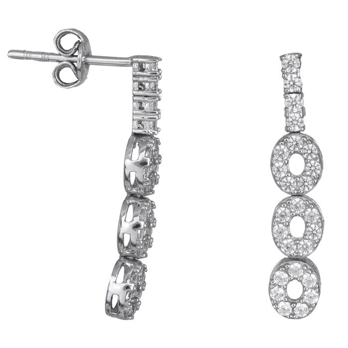 Λευκόχρυσα σκουλαρίκια σειρέ οβάλ 14 Κ 023815 023815 Χρυσός 14 Καράτια