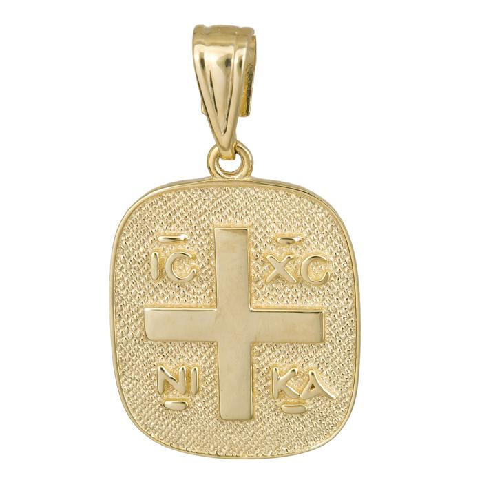 Κωνσταντινάτο οβάλ με σταυρό 14Κ 023846 023846 Χρυσός 14 Καράτια