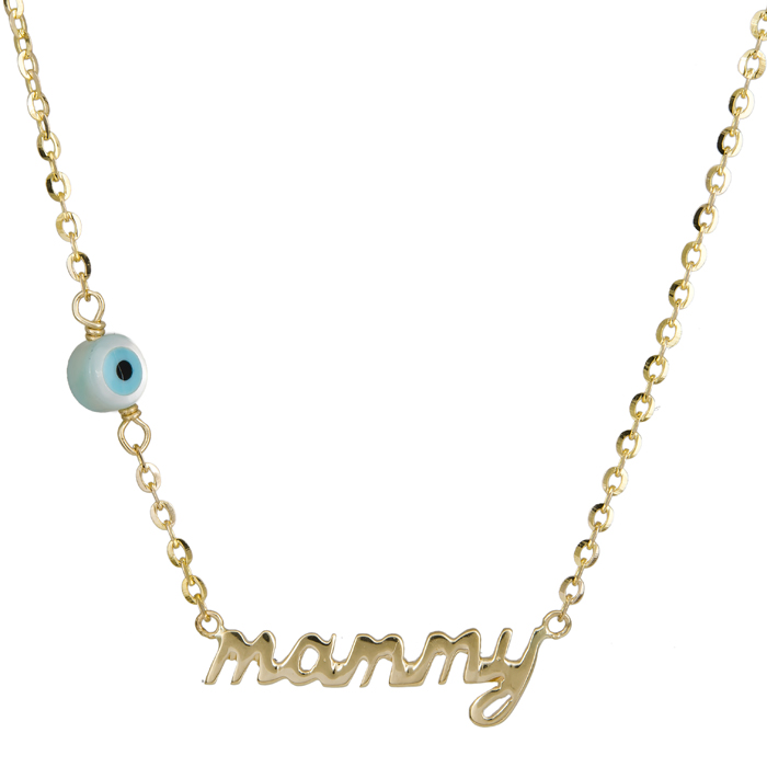 Κολιέ mommy με ματάκι 14Κ 023851 023851 Χρυσός 14 Καράτια