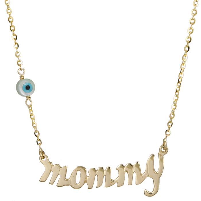 Χρυσό κολιέ mommy με ματάκι 14Κ 023853 023853 Χρυσός 14 Καράτια