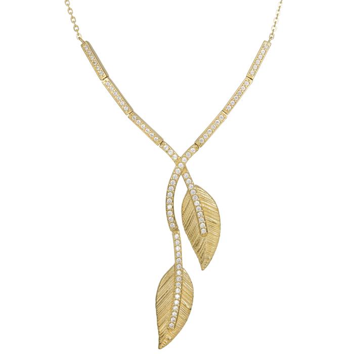 Κολιέ χρυσό με φύλλα 14 Κ 023862 023862 Χρυσός 14 Καράτια