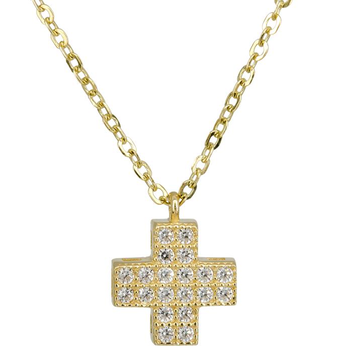 Χρυσό χειροποίητο κολιέ με σταυρουδάκι 14 Κ 023868 023868 Χρυσός 14 Καράτια