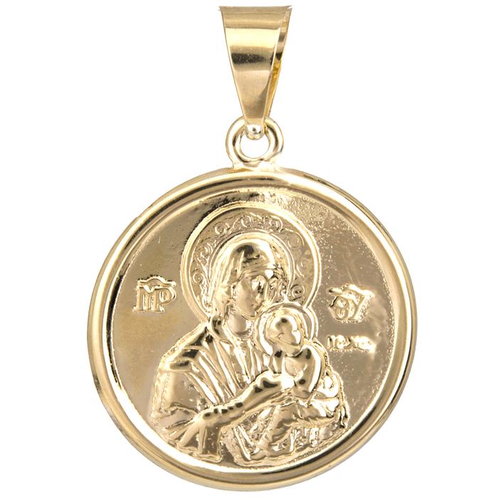 Χρυσό φυλαχτό για μωράκι Κ9 023961 023961 Χρυσός 9 Καράτια χρυσά κοσμήματα κωνσταντινάτα   φυλαχτά