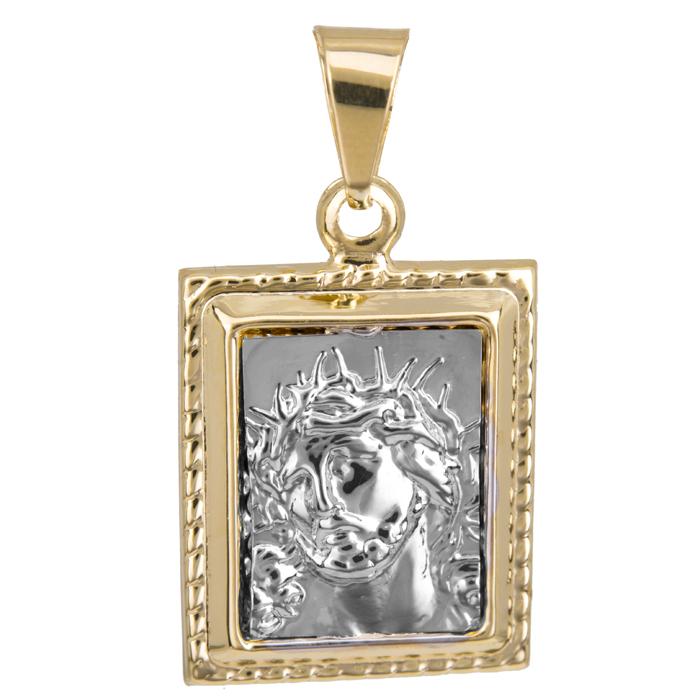 Δίχρωμο χρυσό φυλαχτό Κ9 023964 023964 Χρυσός 9 Καράτια