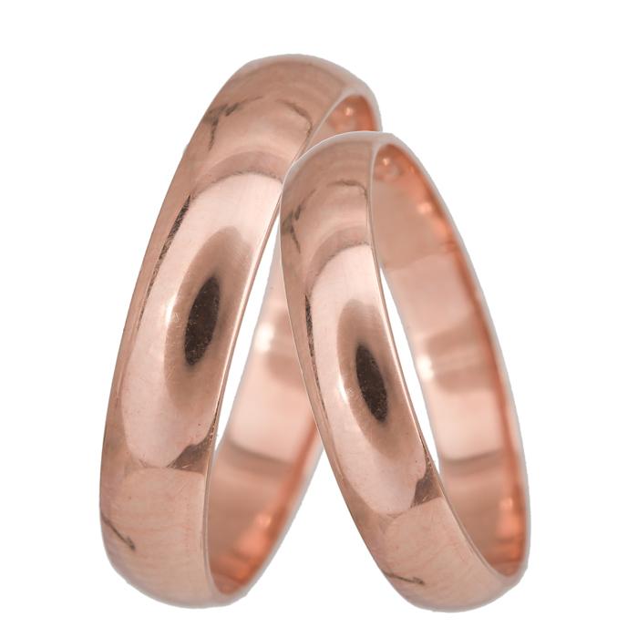 Ροζ gold βέρες γάμου Κ14 024060 024060 Χρυσός 14 Καράτια