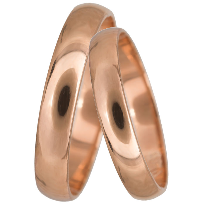 Κλασικές βέρες γάμου ροζ gold Κ14 024065 024065 Χρυσός 14 Καράτια