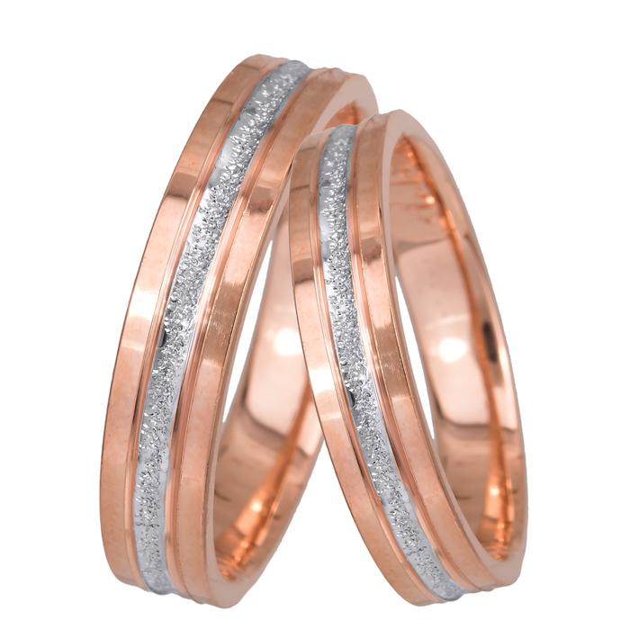 Βέρες γάμου ροζ gold Κ14 024069 024069 Χρυσός 14 Καράτια